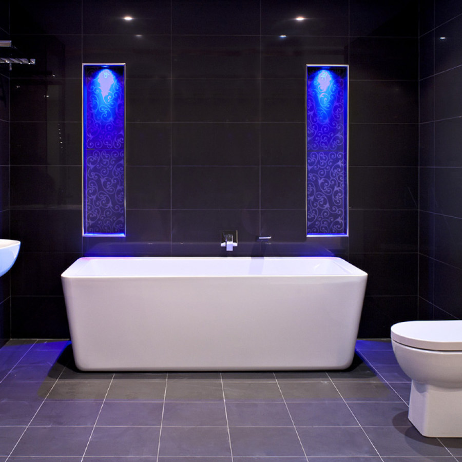 Bathroom Tub and Blue Lighting Ideas