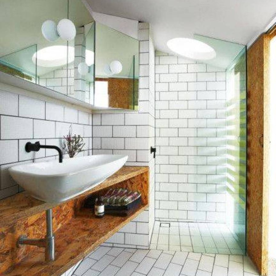 Wooden Bathroom Lighting Ideas