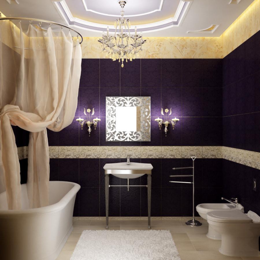Bathroom Hanging Lighting and Violet Room Ideas
