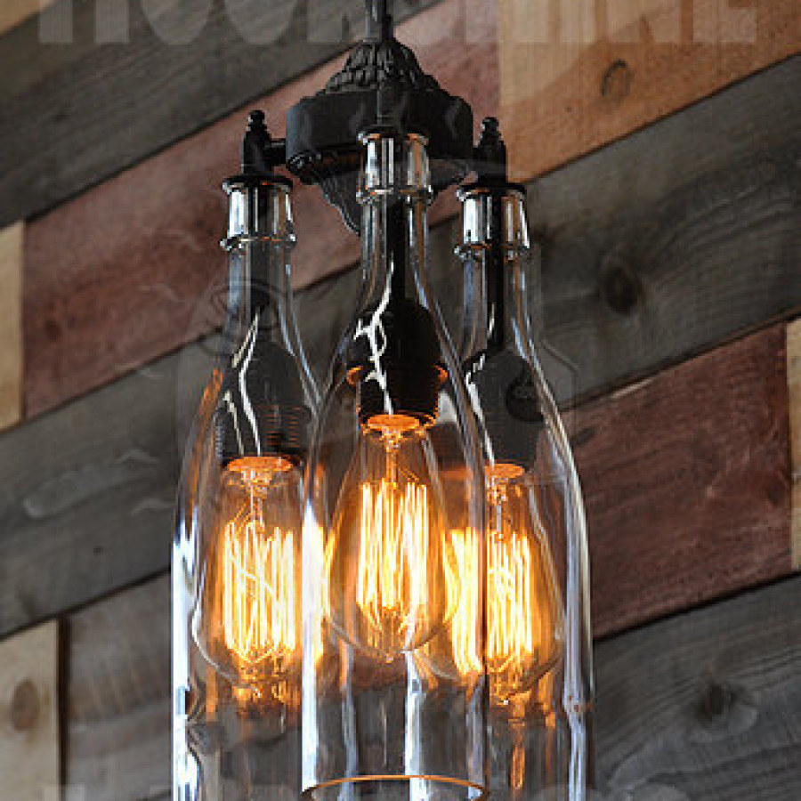 Industrial Bottle Lighting Ideas