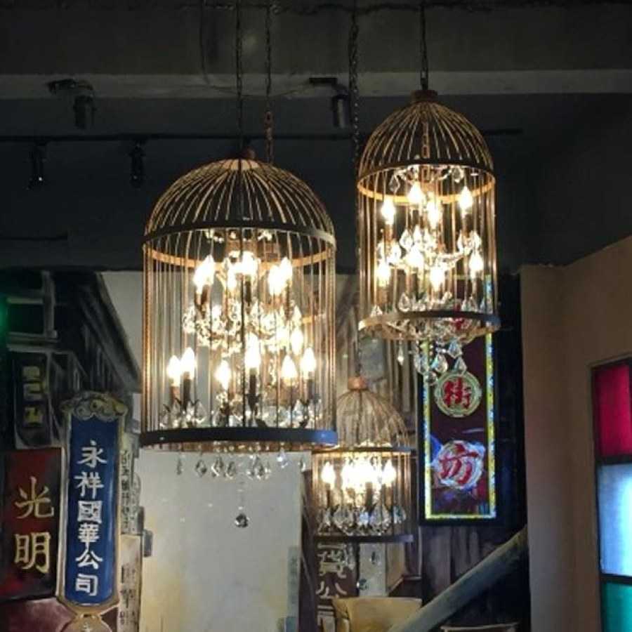 Industrial Cage Lighting Ideas