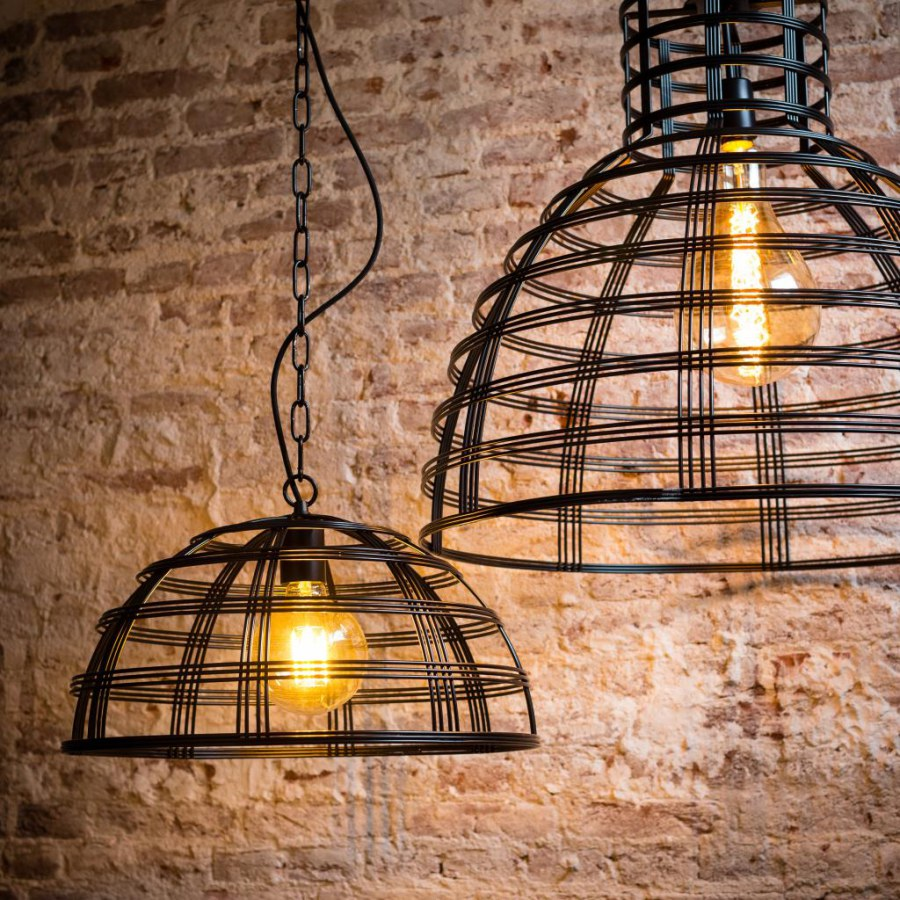 Industrial Wire Basket Lighting Ideas