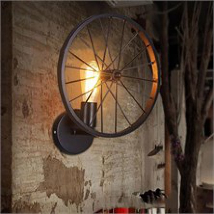 Industrial Wheel Lighting Ideas