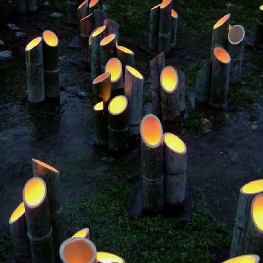 Outdoor Bamboo Lighting Ideas