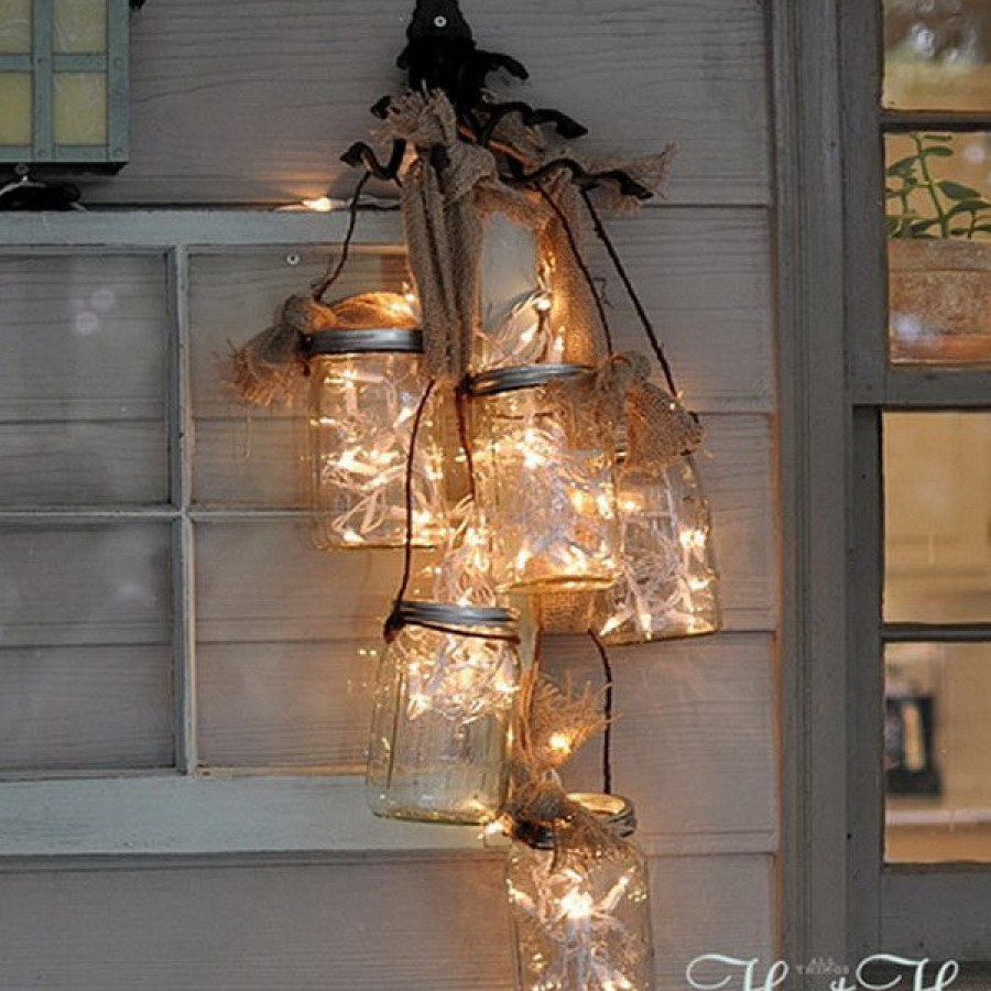 Outdoor Mason Jar Lighting Ideas