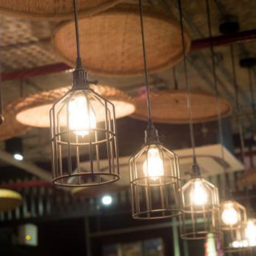 Rustic Wire Basket Square Lighting Ideas