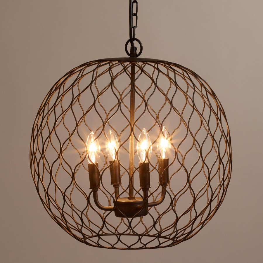 Rustic Wire Basket Lighting Ideas
