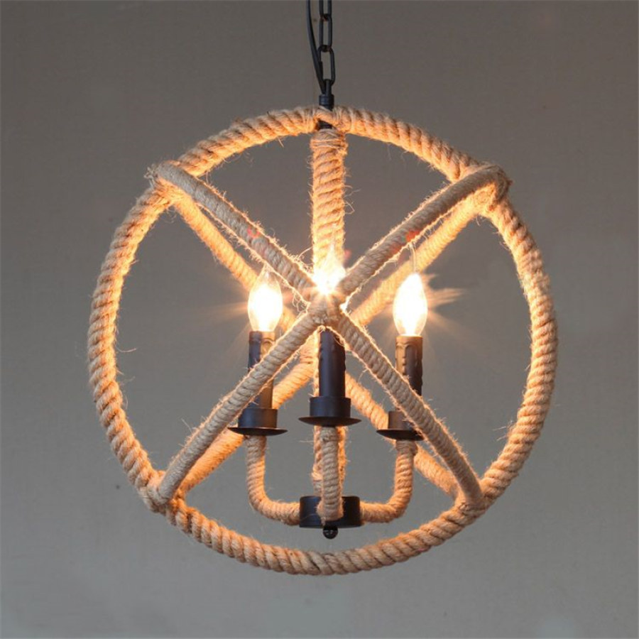 Rustic Rope Lighting Ideas